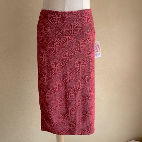 NWT Pretty Coral LuLaRoe Patterned Skirt